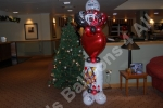 Floor standing foil balloon column