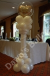 Greek column with double bubble heart balloon.