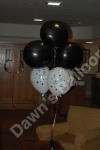Themed balloon table decoration.