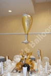champagne glass celebration balloon.