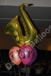 Shaped foil balloon free standing decoration.