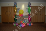 Free standing balloon decorations by Dawns Balloons 4 All