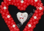 Large Balloons Heart with Center Foil