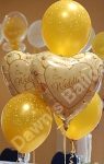 foil and latex balloon decoration
