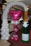 Champagne Bottle Arch with Personalised display