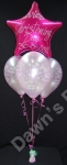 4 Balloon Bouquet with Foil Top