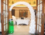 The bubbling Champagne Bottle Arch at the entrance to the Ballroom