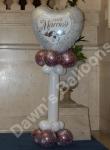 Just Married All Balloon Pillar