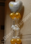 Just Married Balloon and Organza Pillar