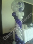 Greek Column with 3 foot Gumball top balloon