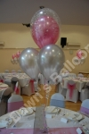 4 Balloon Bouquet with a Large Double Bubble Top Balloon