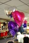 3 Balloon Bouquet Silver Heart Top