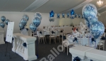 View of The Room Including 3 Balloon Double-Bubble Floor Standing Displays