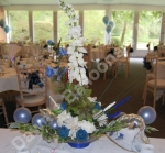 Rear View of The Hand Made Balloon Rose Top Table Flower Arrangement