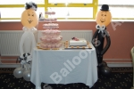 Bride and groom balloon figures