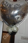 Personalised silver foil heart shaped balloon