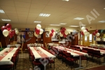balloon decorated function room