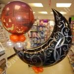 Halloween crescent moon balloon