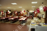 function room decorated with balloons in nottingham