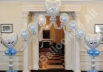 Deco Bubble Floating Arch with Pillars - prices starting from �150.00