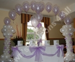 Double bubble balloon arch with Greek Columns - prices starting from �80.00