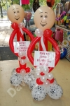 Free standing balloon figures in your favorite football team colours.