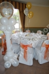 decorated wedding reception table