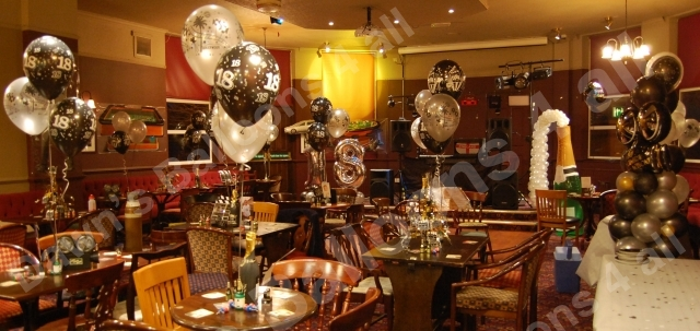 Balloon Decoration Nottingham Photo Gallery Dawns Balloons All - Table decoration ideas for 18th birthday