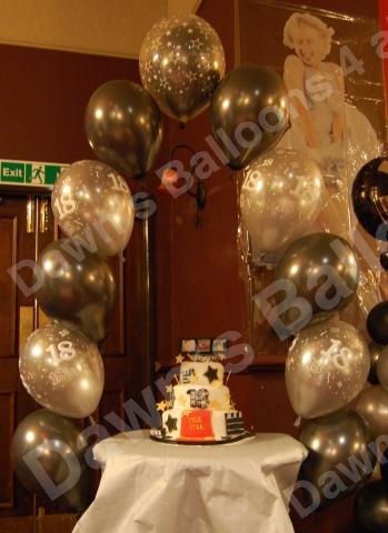 18th Birthday Cake Table Arch